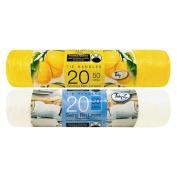 40 Fragranced Swing Bin Liners /20 Citrus Lemon 20 Summer Breeze
