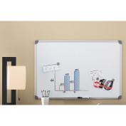 Quartet Magnetic Dry Erase Board with Euro Frame, 90cm x 60cm , Brushed Aluminium Frame