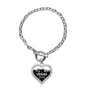 Vegas Strong Cityscape Open Heart Toggle Bracelet