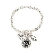 Number 82 Love Football Bracelet