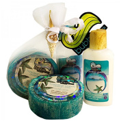 Hawaii Bubble Shack Loofah Soap & Body Lotion Duo Gift Set Ocean Bliss