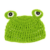 Sharplace Baby Cartoon Frog Hat Child Knit Infant Toddler Green Beanie Photo Prop