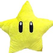 M-G-X Yellow Stars Plush Doll Pillow Cartoon Soft Stuffed Toys Star Shape Pillow 30cm