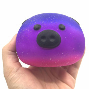Faladiuo 1PC Galaxy Pig Cream Scented Stress Relief Toys Super Jumbo Slow Rising Squishies