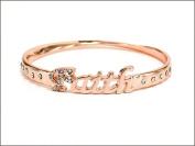 Bracelet-Faith Hope Love Believe Bangle-Faith-Rose Gold