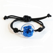 ED Speldy East FBL301 Real Rose Bracelet, Blue