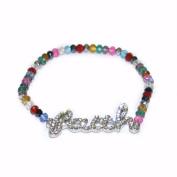 Bracelet-Faith-Multi Beads-Stretch