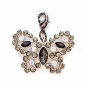 Charm-Rhinestone Butterfly-So Thankful-5.1cm