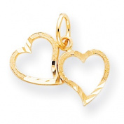 Roy Rose Jewellery 10K Yellow Gold Heart Charm