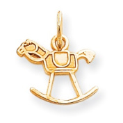 Roy Rose Jewellery 10K Yellow Gold Baby Rocking Horse Charm