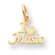 Roy Rose Jewellery 10K Yellow Gold Talking - I Love Music Charm
