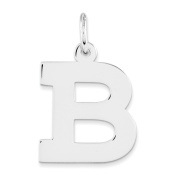 Sterling Silver Medium Block Initial B Charm