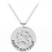 Cdet Women Necklace Cute Round Dog Footprint Pendant Necklace Collar Chain Necklace Birthday Gift