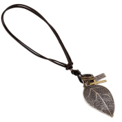 Cdet Women Necklace Retro Big Leaf Pendant Necklace Adjustable Collar Chain Necklace Love Gift
