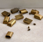 CHENGYIDA 10- PACK Sewing Craft Zipper Ends Caps End Tips - Antique Bronze