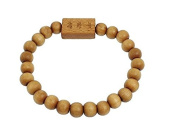 Pengmma Natural Wood Beads Chinese Character Carved Bracelet