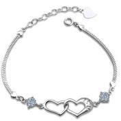 Cdet Women Bracelet Chain Charm Heart Diamond Chain Hand Catenary Girl Love Gift