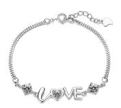 Cdet Women Bracelet Chain Charm Love Diamond Chain Hand Catenary Jewellery Accessories Girl Love Gift