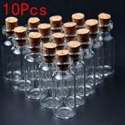 10Pcs 16X35Mm Mini Clear Wishing Message Glass Bottles Vials