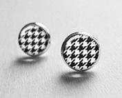 Houndstooth Post Earrings Stud,Stud Earings, Everyday Jewellery, Pattern Earrings, Classic Earrings,Girlfriend Gift,