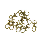 Sharplace 10pcs Bronze Lobster Clasps Swivel Clips Snap Hooks Bag Key Rings Keychains