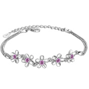 Cosanter Flower Silver Bracelet Female Simple Personality Silver Jewellery