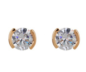 Cosanter Lovely Fashion Hot Ear Studs Plated Zircon Ear Studs