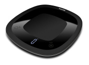 Salter Waterproof Electronic Kitchen Scales, Sleek Black Design, Easy to Keep Clean, Stylish Kitchen Accessory with Digital LED Display, Measure in Metric or Imprerial Weight and Volume for Liquids with Aquatronic Feature - Black