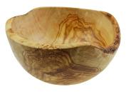 Olive Wood Rustic Round Bowl For Salad/Fruit, Grain/Natural