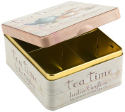 Tea Caddy - India Ceylon Tea Company - Partitioned Tin