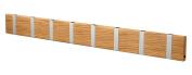 KNAX Clothes Rail with 8 Hooks/Oiled Oak