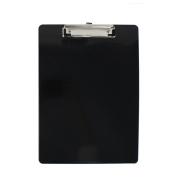 Unique Bargains Office School Plastic A4 Paper File Note Writing Holder Clamp Clip Board Black