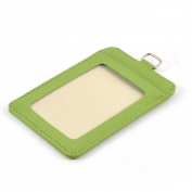 School Office Faux Leather Staff Name Badge ID Holder Container Green