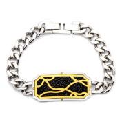 Inox Jewellery BRRA1404 Stingray Stainless Steel Bracelet, IP Gold & Black