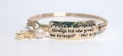 Bracelet-Phil 4:13-Goldtone