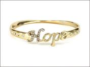 Bracelet-Faith Hope Love Believe Bangle-Hope-GoldTone