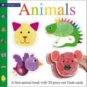 Alphaprints Animals Flash Card Book (Alphaprints) [Board book]