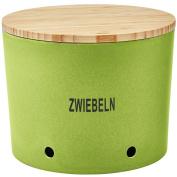 'Magu Natur Design 131 664 Onion Pot Bamboo Fibre, Natural Design Grain Thickness, Wood, green, 28 x 28 x 8 cm