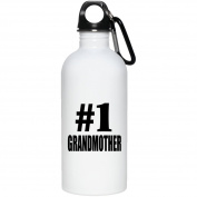 Number One #1 Grandmother - Water Bottle, Stainless Steel Tumbler, Best Gift for Birthday, Anniversary, Easter, Valentines Mothers Fathers Day