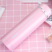 Thermos Travel Mug Flasks Stainless Steel Insulating Bottle Vacuum Bottle,500mL,Pink