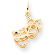 Roy Rose Jewellery 10K Yellow Gold Comedy/Tragedy Charm