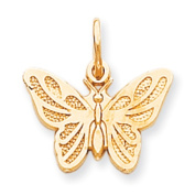 Roy Rose Jewellery 10K Yellow Gold Butterfly Charm