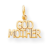Roy Rose Jewellery 10K Yellow Gold Godmother Charm