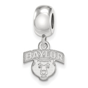 925 Genuine Sterling Silver Officially Licenced Baylor University Bead Charm Mini Small Dangle
