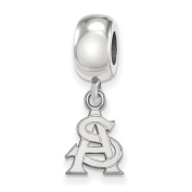925 Genuine Sterling Silver Officially Licenced Arizona State University Bead Charm Mini Small Dangle