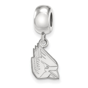 925 Genuine Sterling Silver Officially Licenced Ball State University Bead Charm Small Dangle