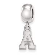 925 Genuine Sterling Silver Officially Licenced Appalachian State University Bead Charm Mini Small Dangle