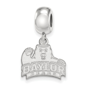 925 Genuine Sterling Silver Officially Licenced Baylor University Bead Charm Small Dangle