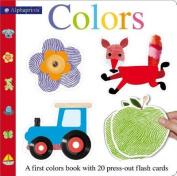 Alphaprints Colors Flash Card Book (Alphaprints) [Board book]