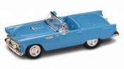 1955 Ford Thunderbird Convertible, Blue - Road Signature 94228 - 1/43 Scale Diecast Model Toy Car
